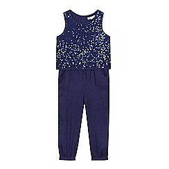 bluezoo - Girls' navy sequin jumpsuit