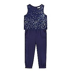 bluezoo - Girls' navy sequin jumpsuit