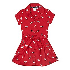 J by Jasper Conran - Designer girl's red dog printed shirt dress