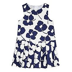 J by Jasper Conran - Designer girl's navy floral dropped waist dress