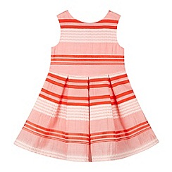 J by Jasper Conran - Designer girl's pink striped prom dress