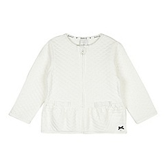 J by Jasper Conran - Designer girl's white quilted peplum jacket