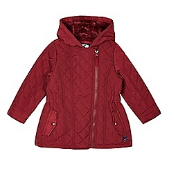 J by Jasper Conran - Girl's red quilted jacket
