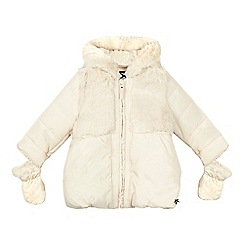 J by Jasper Conran - Girls' cream padded coat with mittens