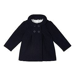 J by Jasper Conran - Designer girl's navy quilted fleece coat