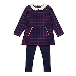 J by Jasper Conran - Girl's navy checked tunic and leggings set