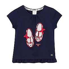 J by Jasper Conran - Girl's navy sequin shoes t-shirt