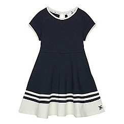 J by Jasper Conran - Designer girl's navy quilted dress