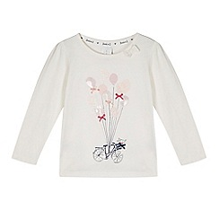 J by Jasper Conran - Girl's off white bicycle and balloons top