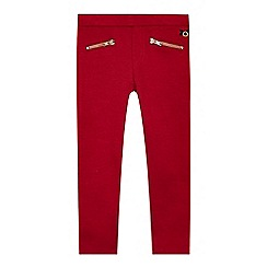 J by Jasper Conran - Designer girl's red zip leggings