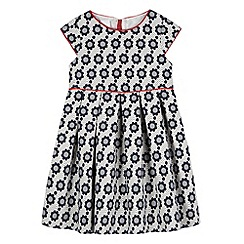 J by Jasper Conran - Designer girl's navy floral jacquard dress