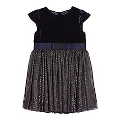 J by Jasper Conran - Girls' navy velvet bodice dress