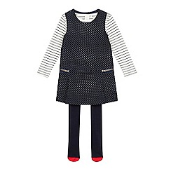 J by Jasper Conran - Girls' navy pinafore set