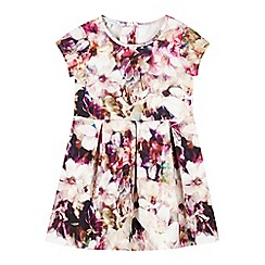 RJR.John Rocha - Designer girl's pink digital floral dress