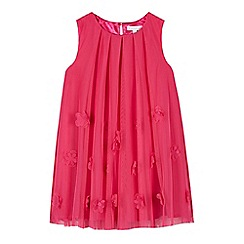 RJR.John Rocha - Designer girl's pink 3D flower mesh dress