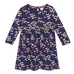 J by Jasper Conran - Girls' navy bow jersey dress