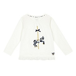 J by Jasper Conran - Girls' cream carousel top