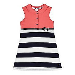 J by Jasper Conran - Designer girl's pink striped tennis dress