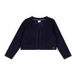 J by Jasper Conran - Designer girl's navy cropped rib cardigan
