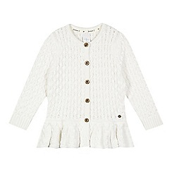 J by Jasper Conran - Designer girl's cream chunky peplum cardigan