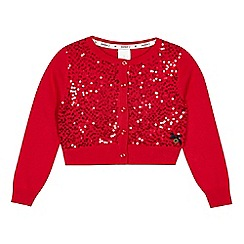 J by Jasper Conran - Girls' red sequin cardigan