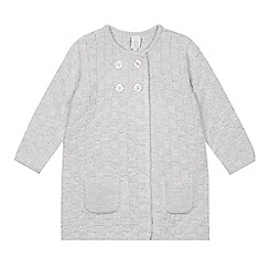 J by Jasper Conran - Girls' grey knitted cardigan