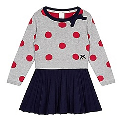 J by Jasper Conran - Girls' grey polka dot knitted dress