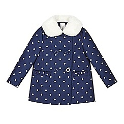 J by Jasper Conran - Girls' blue spotted coat