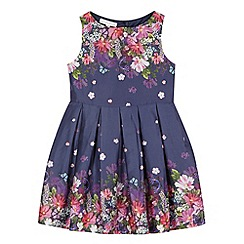RJR.John Rocha - Designer girl's navy floral dress