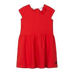 J by Jasper Conran - Girls' red textured dress