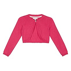 RJR.John Rocha - Designer girl's pink cropped cardigan