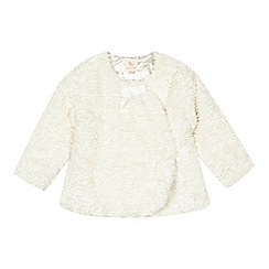 RJR.John Rocha - Baby girls' cream faux fur coat