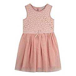 RJR.John Rocha - Designer girl's pink lace bodice dress