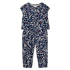 RJR.John Rocha - Girl's navy mock 2-in-1 butterfly print jumpsuit
