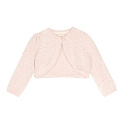 RJR.John Rocha - Girls' pink eyelash cropped cardigan