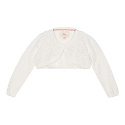 RJR.John Rocha - Girls' cream applique rose cropped cardigan