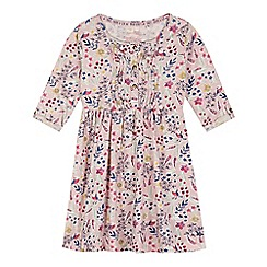 Mantaray - Girl's pink floral print jersey dress