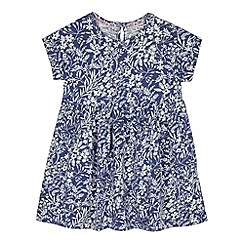 Mantaray - Girl's blue floral dress