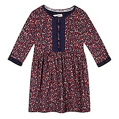 Mantaray - Girl's navy floral jersey dress
