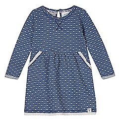 Mantaray - Girl's blue spotted sweat dress