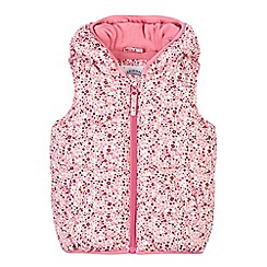 Mantaray - Girl's pink ditsy floral padded gilet