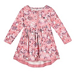 Mantaray - Girls' pink snow print dress