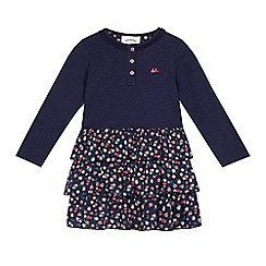 Mantaray - Girls' navy rara jersey dress