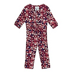 Mantaray - Girls' pink floral jumpsuit