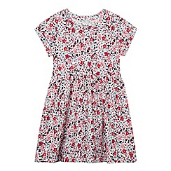 Mantaray - Girl's pink floral jersey dress