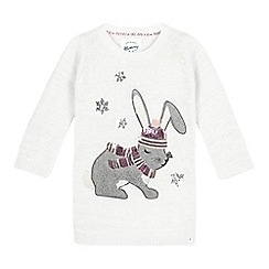 Mantaray - Grey knitted bunny dress