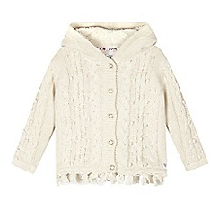 Mantaray - Girls' white cable knit cardigan