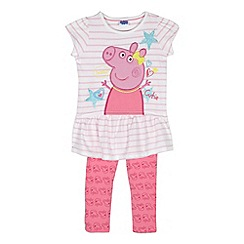 Peppa Pig - Girl's pink 'Peppa Pig' tunic and leggings set