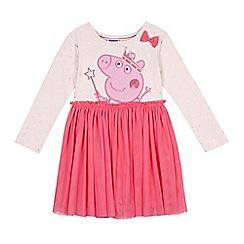 Peppa Pig - Girls' Pink Peppa Pig mesh dress