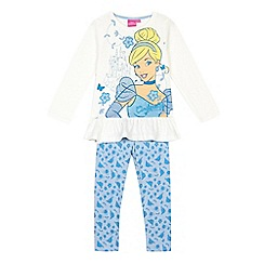 Disney Princess - Girls' light blue 'Disney Princess' top and bottoms set